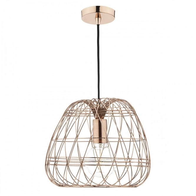 Superieur WOVEN Wire Work Copper Ceiling Pendant
