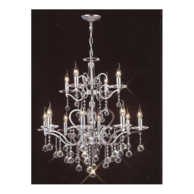 Buy large lights chrome egyptian lead crystal chandelier zinta large 12 light chrome and egyptian lead crystal chandelier aloadofball Image collections